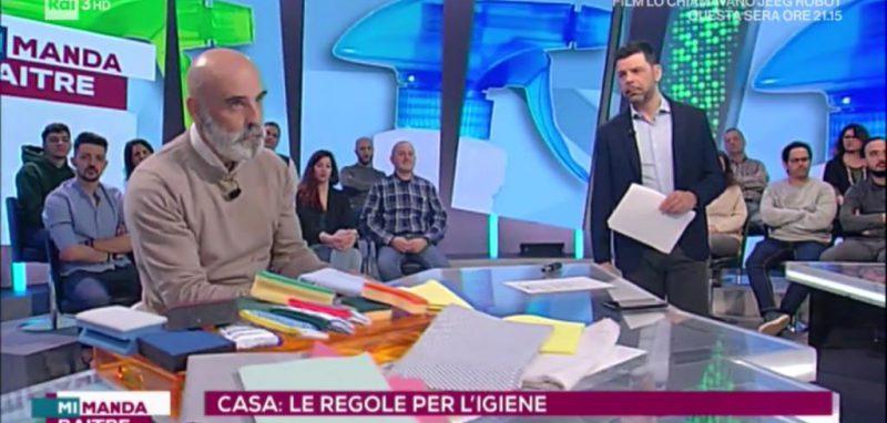 """""""Mi Manda Rai 3"""" parla di igiene, attraverso la voce di Roberto Galli"""