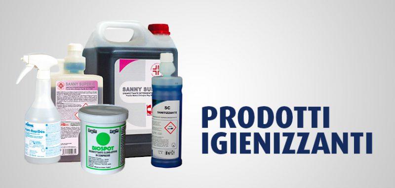 I prodotti per igienizzare le superfici